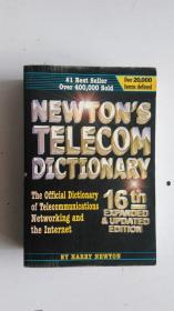 英文原版  newton s telecom dictionary  牛顿电信词典
