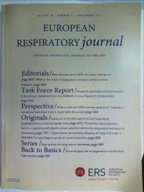 European Respiratory Journal 欧洲呼吸医学学术论文杂志2016/09