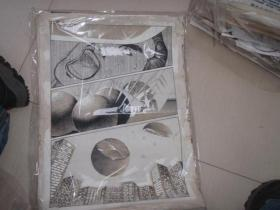 21  90年代出版过的名家动漫原稿《江湖大佬》29张 长54厘米宽40厘米 看详图微信