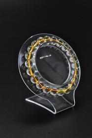 《巴西黄水晶饰品》手串一个 纯天然 单颗黄水晶尺寸:8.6mm 总重量19.94g 。手串周长:12cm