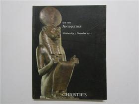 CHRISTIES NEW YORK ANTIQUITIES 佳士得 2011 纽约 古物拍卖 (大16开)