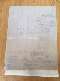 1945年日军侵略菲律宾手绘军事地图《比岛(菲律宾吕宋岛)兵力配置图》一张