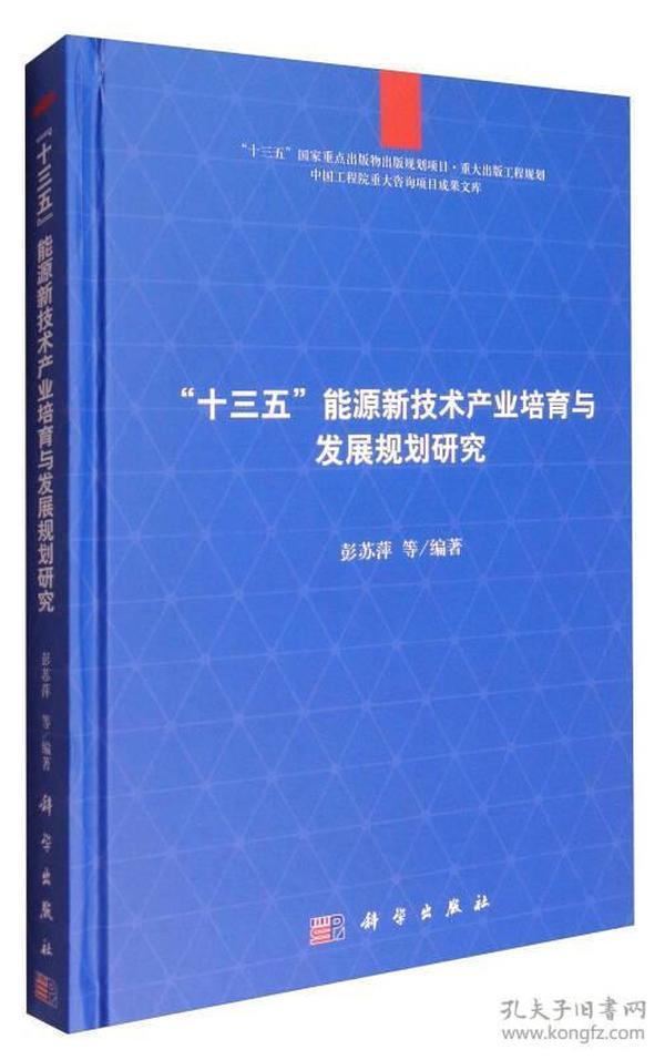 十三五能源新技术产业培育与发展规划研究