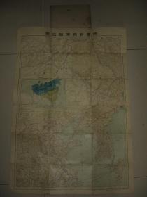 日本侵华老地图1904年《满韩地图》日俄战争 清末中国东北部  满洲 黑龙江 吉林 盛京 清国 直隶等地