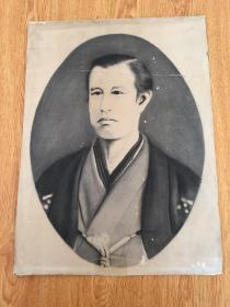 """日本近代著名的启蒙思想家、""""日本近代教育之父""""《福泽渝吉》画像一张,民国日本印刷"""
