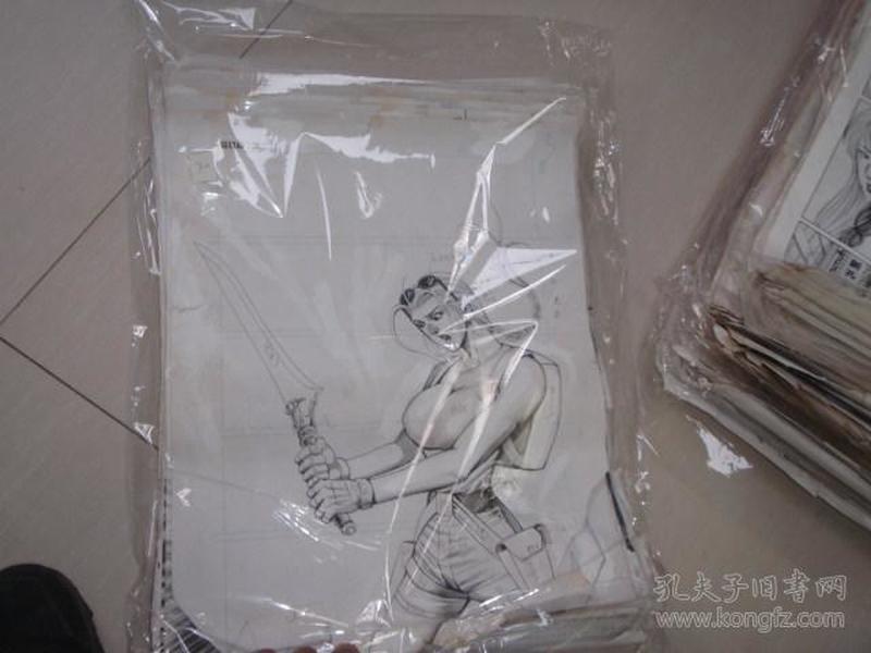 30 90年代出版过的名家动漫原稿《盗墓者》59张 长47厘米宽36厘米 看详图微信