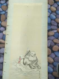 罗汉图绢画(有虫蛀)