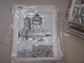 32  90年代出版过的名家动漫原稿《铁拳》38张 长47厘米宽36厘米 看详图微信