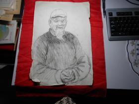 人物素描《沧桑》(著名油画家顾祝君60年代涉县速写)