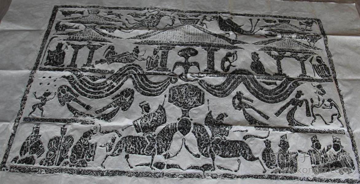 扁鹊针灸图 拓片 六尺整张