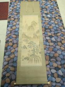 山水日本绢画(有虫蛀)