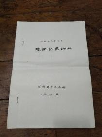 1976年7月陇南化马洪水