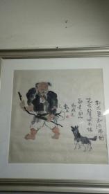 著名畫家賈又福作品人物尺寸68cmx68cm