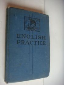 English Practice (for secondary School)  英文原版插图本 1941年出版  布面精装大32开,里面有许多幽默插图和相片插等