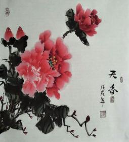 L-1河北国画家李延录先生精品国画作品1件(保真)