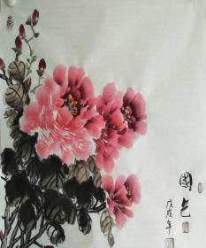 L-2河北国画家李延录先生精品国画作品1件(保真)
