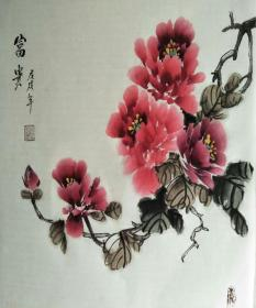 L-3河北国画家李延录先生精品国画作品1件(保真)