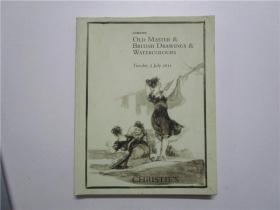 CHRISTIES LONDON OLD MASTER & BRITISH DRAWINGS & WATERCOLOURS 佳士得 2011 伦敦老硕士和英国绘画和水彩画拍卖 (大16开)