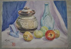 五十年代 吴作人 水彩画