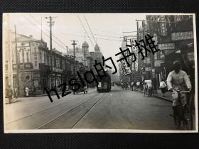 【照片珍藏】民国20年代上海街市建筑照片_南京路繁忙景象