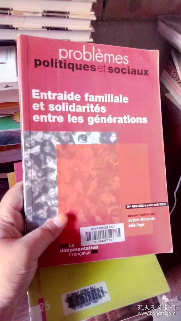 Entraide familisle et solidarites entre les generations