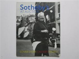 SOTHEBYS AT AUCTION WORLDWIDE HIGHLIGHTS COVER STORY; CALDERS LEGACY 2009(拍卖会上的苏富比故事;考尔德的遗产)大16开