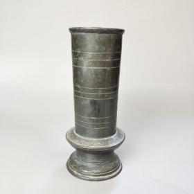 清代锡花插老锡器香筒锡瓶文房花艺摆件民俗古董