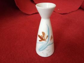 怀旧收藏 八十年代 陶瓷小酒壶 兰草图案画花 单只