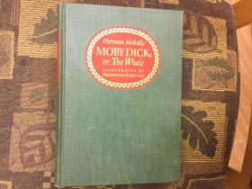 Moby Dick: Or, The Whale白鲸,1943布面精装绝美插图版,九品,稀少