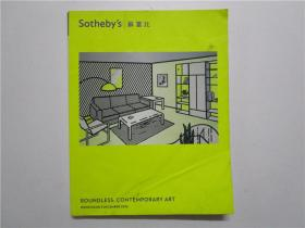 Sotheby's BOUNDLESS;CONTEMPORARY ART 香港苏富比2012年 无边的;当代艺术拍卖