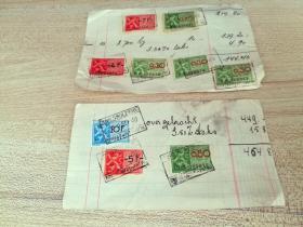 意大利早期税票剪片2张