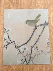 民国日本印刷精致花鸟画一幅