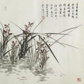 【保真】.【刘晓东】河北省美协会员、手绘四尺斗方花鸟作品(68*68CM)2。