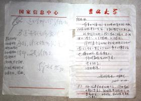 MJ200450 吉林大学胡铁生等信札6页