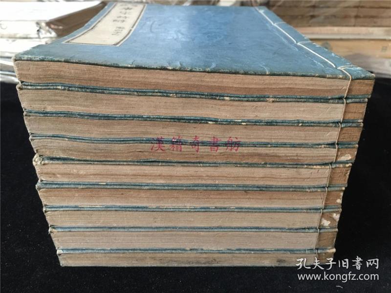 和刻本《笺注唐宋诗醇》李杜二种9册全。写刻体。底本为乾隆25年重刊本。杜少陵集中夹有一张近代汉诗剪报,不知是否是藏书者之作?今仍原封不动夹于杜集中。孔网惟一