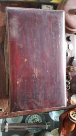 清代楠木密纹箱匣