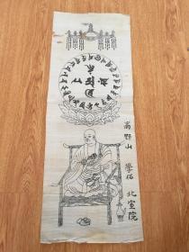 清末到民国日本木版印刷《高野山 空海法师尊像》一幅
