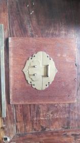 红木嵌铜制如意头箱匣标本
