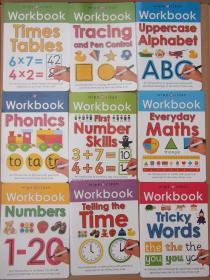 可擦写清洁练字练习册wipe clean Workbook系列共9本 英文原版