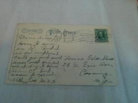 清代邮政文献   1907年外文明信片   贴邮票一枚  全英文    请识者自辨   包老包真