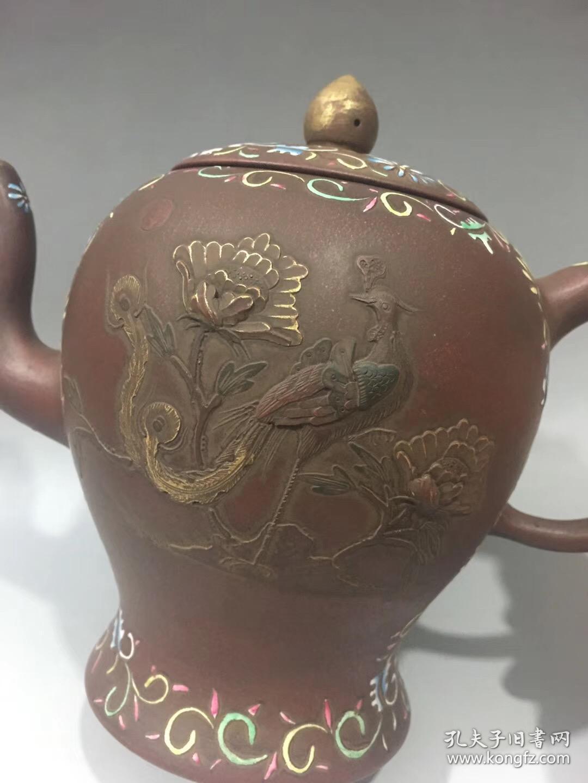 大清乾隆年制珐琅彩紫砂壶 收藏精品图片