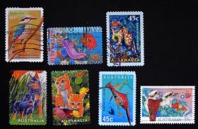 【特价票】澳大利亚邮票-----动物(信销票)
