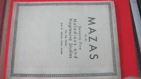 【2289 MAZAS  OP.36小提琴指法演奏  大16开