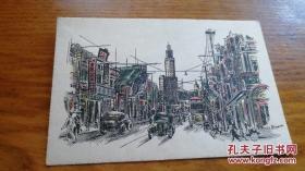明信片民国《Nanking Road,Shanghai》JYC