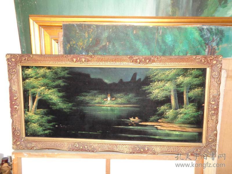 刚收来的老油画-75厘米*35厘米