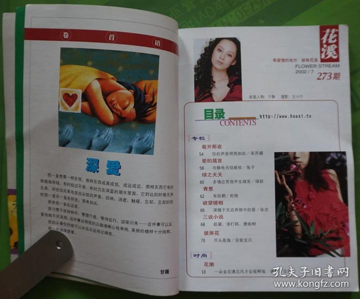 花溪杂志2002年7期总第273期封面宁静 封底李湘 32开本222页 旧书85品