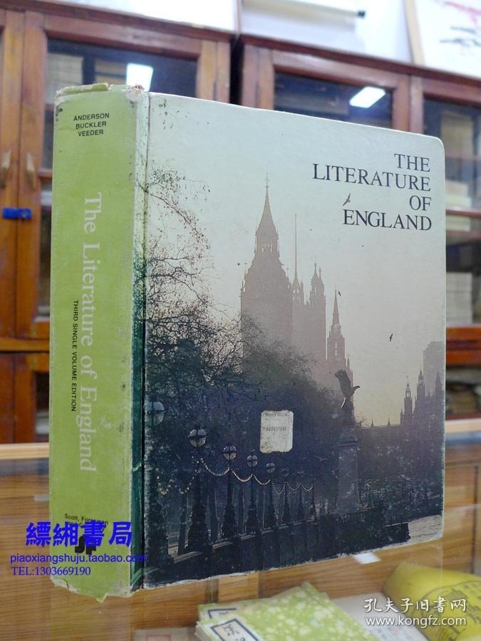 THE LITERATURE OF ENGLAND《英国文学史》