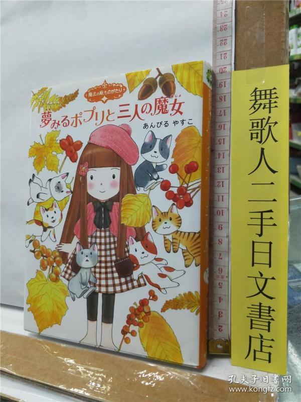 魔法の庭ものがたり8 梦みるポプリと三人の魔女 日文原版32开硬精装儿童读物 あんびるやすこ 岩崎书店