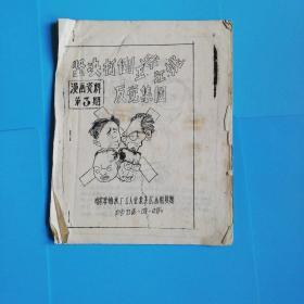 坚决打到王张江姚反党集团【漫画在资料第三期.哈尔滨轴承厂工人业余美术小组复制1976.11.17】