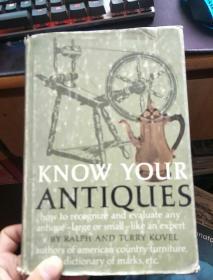 英文原版---Know Your Antiques1967老版布面精装插图本